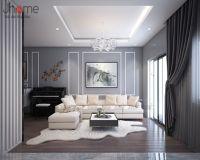 Thiết kế nội thất phòng khách biệt thự Ecopark nhà chị Phương - Nội thất Jhome