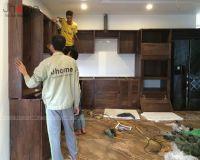 Xưởng sản xuất và thi công nội thất gỗ óc chó - Nội thất Jhome