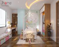 Thiết kế, thi công nội thất phòng ngủ con gái chung cư L3 Ciputra - Nội thất Jhome