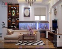 Thiết kế, thi công nội thất phòng khách nhà phố Dương Quảng Hàm - Nội thất Jhome