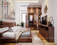 Thiết kế, thi công nội thất phòng ngủ master nhà phố Dương Quảng Hàm - Nội thất Jhome