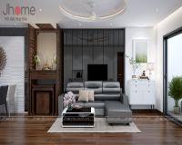 Thiết kế, thi công nội thất phòng khách chung cư G5 Five Star - Nội thất Jhome