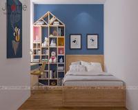 Thiết kế nội thất phòng ngủ con gái bé chung cư Imperia Garden - Nội thất Jhome