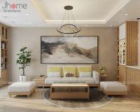 Thiết kế, thi công nội thất phòng khách biệt thự Xuân Phương Quốc Hội - Nội thất Jhome