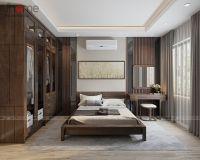 Thiết kế, thi công nội thất phòng ngủ master biệt thự Xuân Phương Quốc Hội - Nội thất Jhome