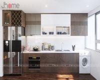 Thiết kế, thi công nội thất phòng bếp chung cư New Skyline Văn Quán - Nội thất Jhome