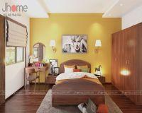 Thiết kế phòng ngủ nhà phố tông vàng nổi bật - Nội thất Jhome