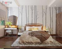 Thiết kế phòng ngủ nhà phố tông màu nhã nhặn - Nội thất Jhome