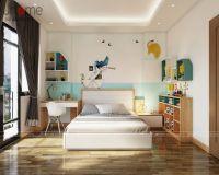 Thiết kế nội thất phòng ngủ bé gái biệt thự ở Quảng Ninh - Nội thất Jhome