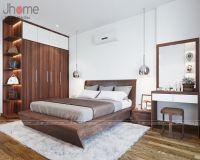 Thiết kế nội thất phòng ngủ master nhà phố ở Nghi Tàm - Nội thất Jhome
