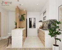 Thiết kế nội thất phòng bếp căn hộ chung cư ở Hoàng Cầu - Nội thất Jhome