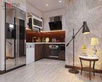 Thiết kế nội thất phòng bếp căn hộ tòa A2 chung cư Vinhomes Gardenia - Nội thất Jhome