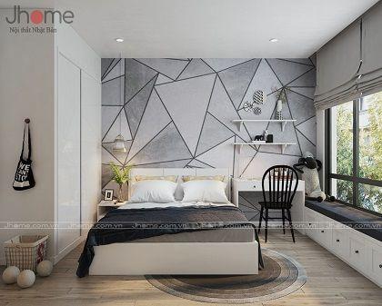 Thiết kế nội thất phòng ngủ con gái căn hộ tòa A2 chung cư Vinhomes Gardenia - Nội thất Jhome