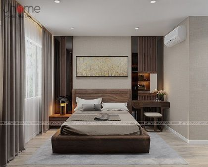 Thiết kế nội thất phòng ngủ ông bà biệt thự Ecopark anh Ngọc - Nội thất Jhome