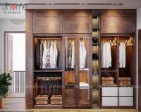 Những mẫu tủ quần áo gỗ óc chó đẹp - Nội thất Jhome