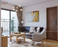 Thiết kế nội thất phòng khách căn hộ tòa A3 chung cư Vinhomes Gardenia - Nội thất Jhome
