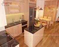 Thiết kế nội thất phòng bếp căn hộ tòa CT4 chung cư Vimeco - Nội thất Jhome