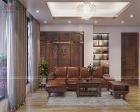Thiết kế nội thất phòng khách tầng 20 căn penthouse phố Hoàng Ngân - Nội thất Jhome