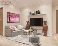 Thiết kế nội thất phòng khách chung cư Vinhomes Mỹ Đình - Nội thất Jhome