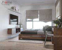 Thiết kế nội thất phòng ngủ master chung cư Vinhomes Mỹ Đình - Nội thất Jhome