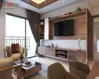 Thiết kế nội thất phòng khách chung cư Hanoi Aqua Central - Nội thất Jhome