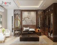 Thiết kế nội thất phòng ngủ master chung cư Hanoi Aqua Central - Nội thất Jhome