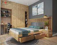 Thiết kế nội thất phòng ngủ con chung cư Hanoi Aqua Central - Nội thất Jhome
