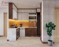 Thiết kế nội thất phòng bếp chung cư Thăng Long Number One - Nội thất Jhome