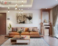 Thiết kế nội thất phòng khách, bếp chung cư Cầu Giấy - Nội thất jHome