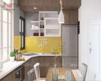 Thiết kế nội thất phòng bếp nhà phố Hàng Chuối - Nội thất Jhome