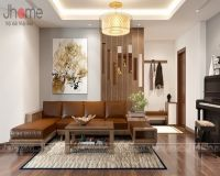 Thiết kế nội thất phòng khách chung cư CT34T Hoàng Đạo Thúy - Nội thất Jhome