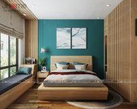 Thiết kế nội thất phòng ngủ master chung cư Ecopark nhà anh Phúc - Nội thất Jhome