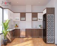 Thiết kế nội thất phòng bếp nhà chị Nguyệt ở Đội Cấn - Nội thất Jhome