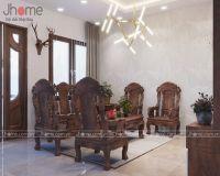 Thiết kế nội thất phòng khách nhà liền kề Ecopark - Nội thất Jhome