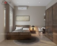 Thiết kế nội thất phòng ngủ master nhà liền kề Ecopark - Nội thất Jhome