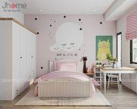 Thiết kế nội thất phòng ngủ con gái nhà liền kề Ecopark - Nội thất Jhome