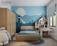 Thiết kế nội thất phòng ngủ con trai nhà liền kề Ecopark - Nội thất Jhome
