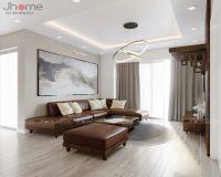 Thiết kế nội thất phòng khách, bếp chung cư An Bình City - Nội thất Jhome