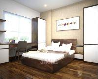 Thiết kế nội thất phòng ngủ master chung cư ở Hoàng Văn Thái - Nội thất jhome