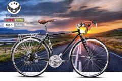 Xe đạp đua LT26 đen/ghi