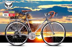 Xe đạp đua LT26 ghi/đỏ