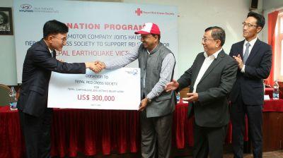 Hyundai ủng hộ 300.000 USD cứu trợ nạn nhân động đất tại Nepa