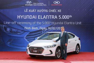 Hyundai Thành Công xuất xưởng chiếc xe Elantra thứ 5.000 tại Việt Nam