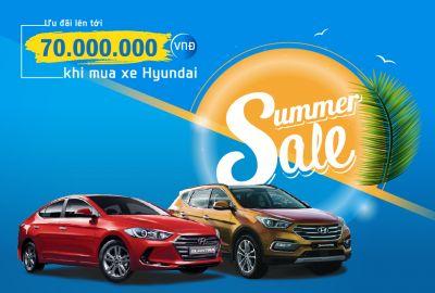 Khuyến mại mùa hè lên tới 70 triệu đồng khi mua xe Hyundai SantaFe & Elantra