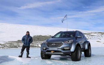 Cùng Patrick Bergel thám hiểm Nam Cực bằng Hyundai SantaFe
