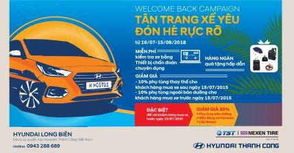 """Cùng đến Hyundai Long Biên """"TÂN TRANG XẾ YÊU - ĐÓN HÈ RỰC RỠ"""""""