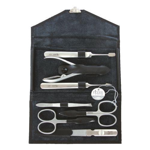 Bộ dụng cụ chăm sóc móng Nippes 1018, màu đen