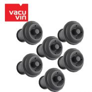 Bộ 6 nút chai Silicon màu xám thương hiệu Vacu Vin 886360