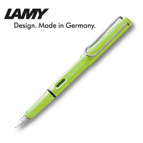 Bút mực cao cấp Lamy Safari màu xanh  dạ quang, ngòi F