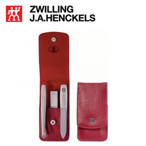 Bộ bấm móng tay 3 món màu đỏ thương hiệu Zwilling 97548-003